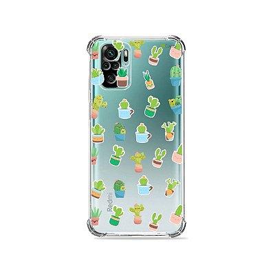 Capa (Transparente) para Xiaomi Redmi Note 10 4G - Cactus