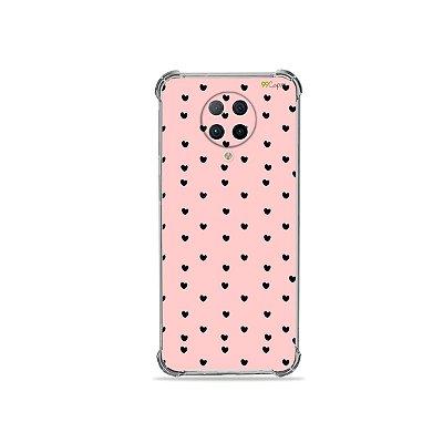 Capa para Xiaomi Poco F2 Pro - Corações Preto