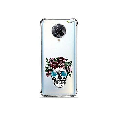 Capa (Transparente) para Xiaomi Poco F2 Pro - Caveira