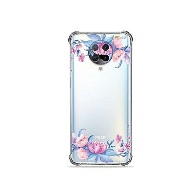 Capa (Transparente) para Xiaomi Poco F2 Pro - Bromélias