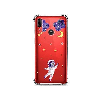 Capa (Transparente) para Moto E6 Plus - Astronauta Sonhador