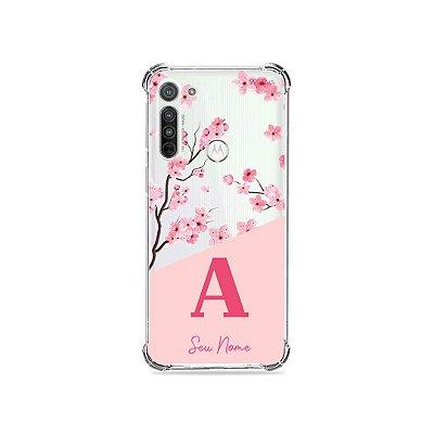 Capinha Cerejeiras com Inicial para Motorola