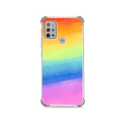 Capa (Transparente) para Moto G20 - Rainbow