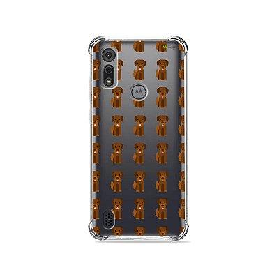 Capa (Transparente) para Moto E6I - Golden