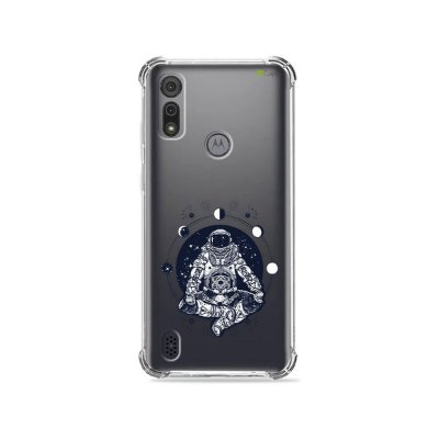 Capa (Transparente) para Moto E6I - Astronauta