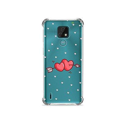 Capa (Transparente) para Moto E7 - In Love