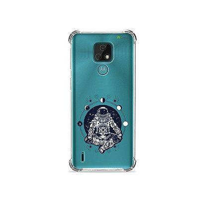 Capa (Transparente) para Moto E7 - Astronauta