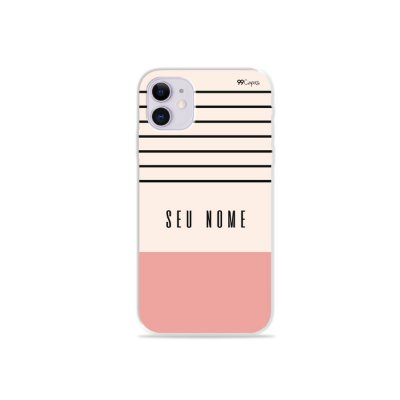 Capinha Basic com nome para iPhone - 99Capas