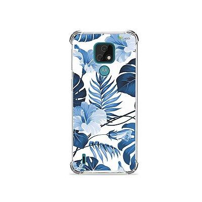 Capa para Moto E7 - Flowers in Blue