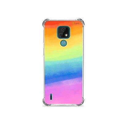 Capa para Moto E7 - Rainbow