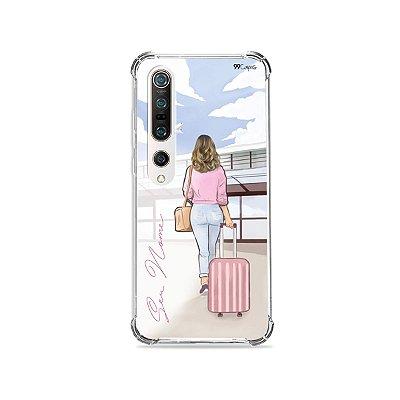 Capinha Girl Travel com nome para Xiaomi - 99Capas