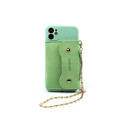 Case Pocket Menta (com alça) para iPhone 12 - 99Capas