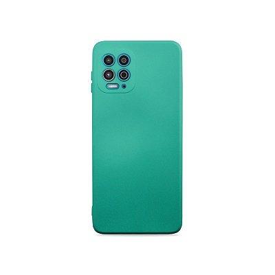 Silicone Case Verde Água para Moto G100
