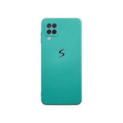 Silicone Case Verde Água (com proteção de câmera) para Galaxy A12