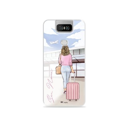 Capinha Girl Travel com nome para Zenfone