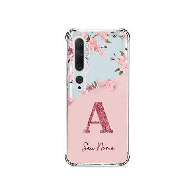 Capinha Cerejeiras Velvet com Inicial para Xiaomi