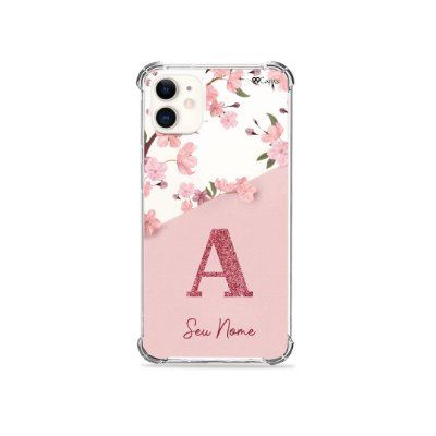 Capinha Cerejeiras Velvet com Inicial para iPhone
