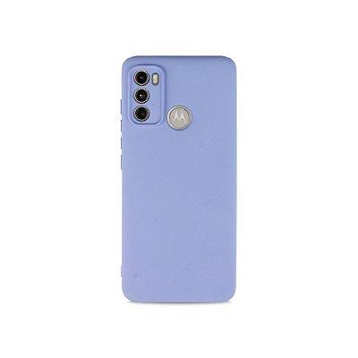 Silicone Case Lilás para Moto G60