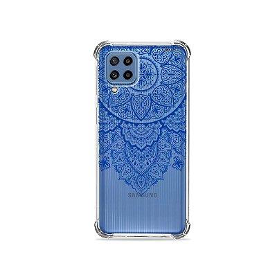 Capa (Transparente) para Galaxy M62 - Mandala Azul