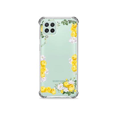 Capinha (transparente) para Galaxy A22 4G - Yellow Roses