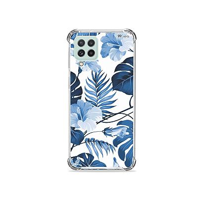 Capinha para Galaxy A22 4G - Flowers in Blue