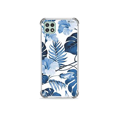 Capinha para Galaxy A22 5G - Flowers in Blue
