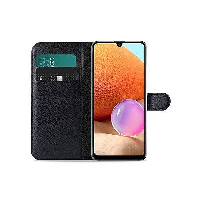 Capa Carteira Preta para Galaxy A32 5G