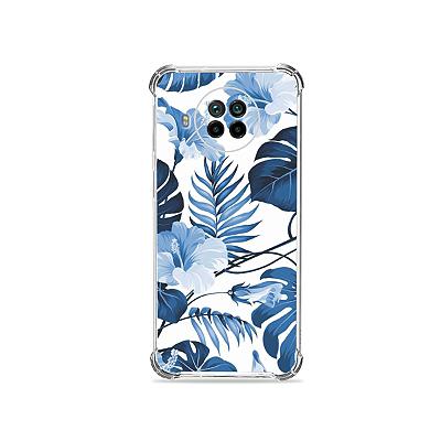 Capa para Mi 10T Lite - Flowers in Blue