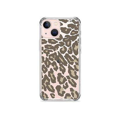 Capa para iPhone 13 - Animal Print Nude