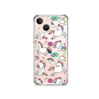 Capa para iPhone 13 - Unicornios Felizes