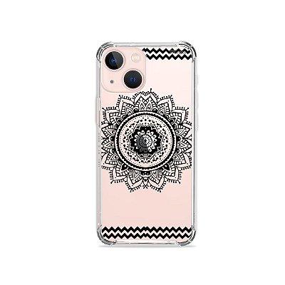 Capa para iPhone 13 - Mandala Preta