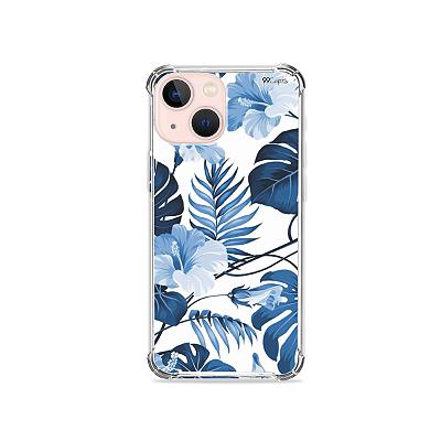 Capa para iPhone 13 Mini - Flowers in Blue