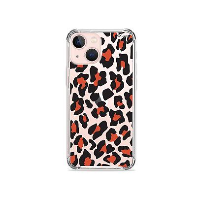 Capa para iPhone 13 Mini - Animal Print Red