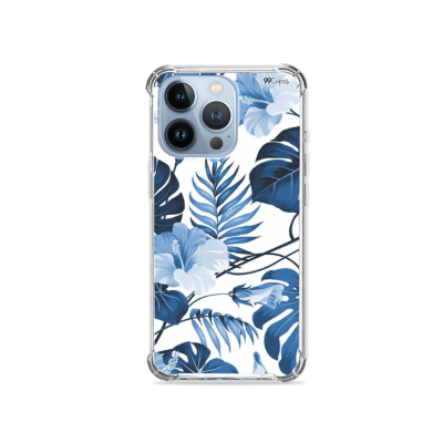 Capa para iPhone 13 Pro Max - Flowers in Blue