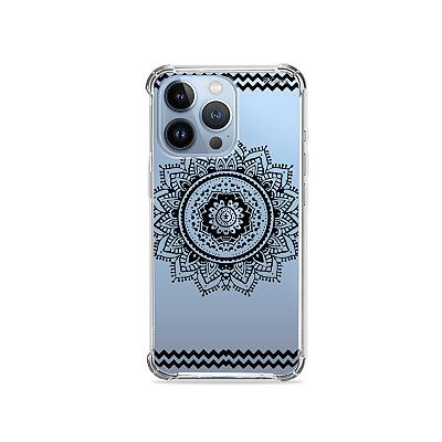 Capa para iPhone 13 Pro Max - Mandala Preta