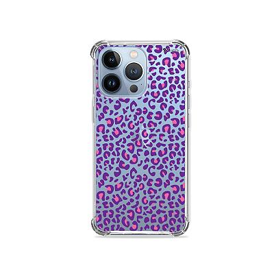 Capa para iPhone 13 Pro Max - Animal Print Purple