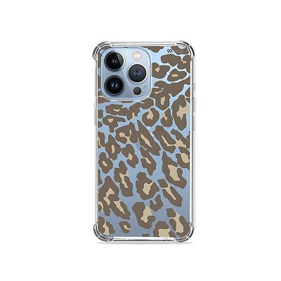 Capa para iPhone 13 Pro - Animal Print Nude