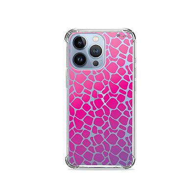 Capa para iPhone 13 Pro -  Animal Print Pink