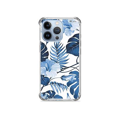 Capa para iPhone 13 Pro - Flowers in Blue