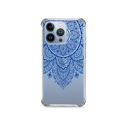 Capa para iPhone 13 Pro - Mandala Azul
