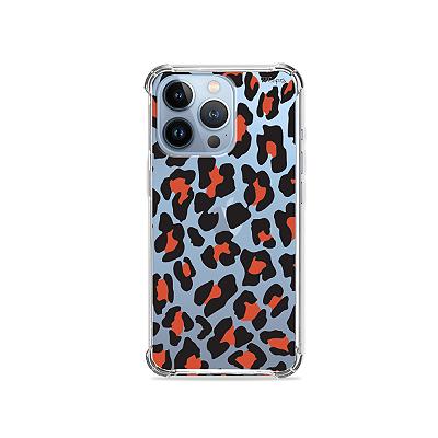 Capa para iPhone 13 Pro - Animal Print Red