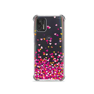 Capa para Moto G Stylus - Corações Rosa