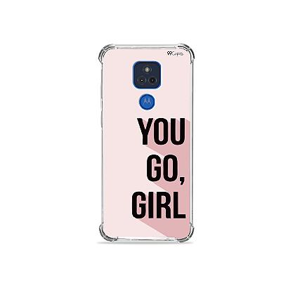 Capa para Moto G Play - You Go, Girl