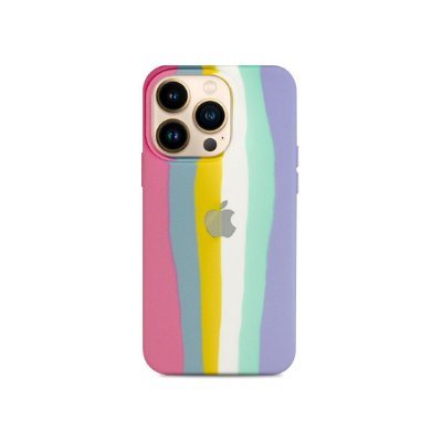 Silicone Case Listras Candy para iPhone 13 Pro