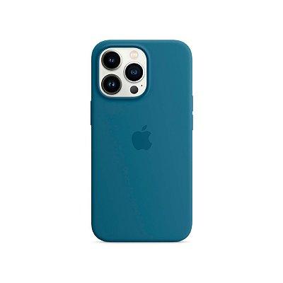 Silicone Case Azul para iPhone 13 Pro