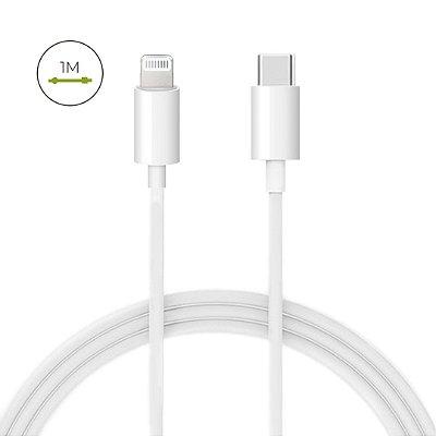Cabo USB-C Lightning branco para iPhone