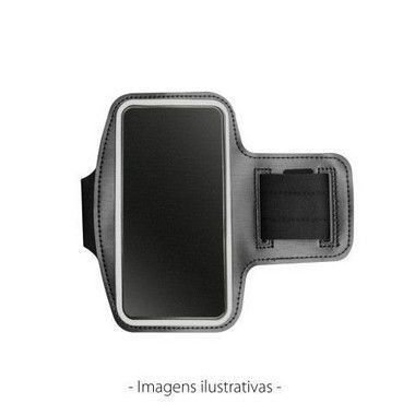Braçadeira Esportiva de Neoprene Preta para iPhone 13 Pro