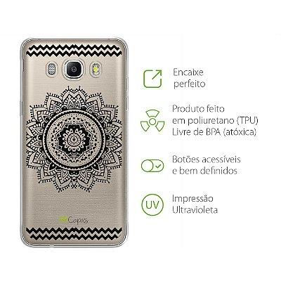 Capa para Galaxy J7 Metal - Mandala Preta