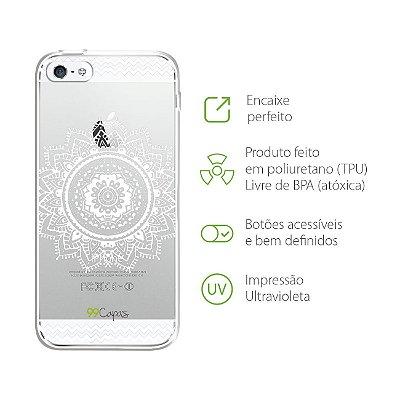 Capa para iPhone 5/5S/SE - Mandala Branca