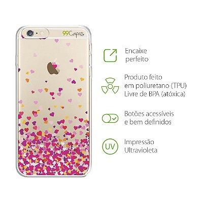 Capa para iPhone 6 Plus/6S Plus - Corações Rosa